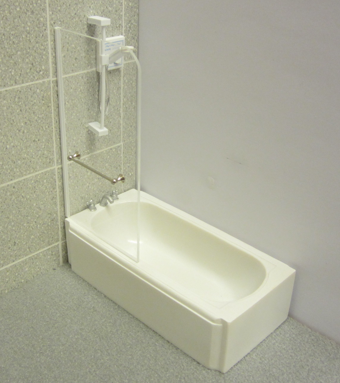 Bath shower screen kit