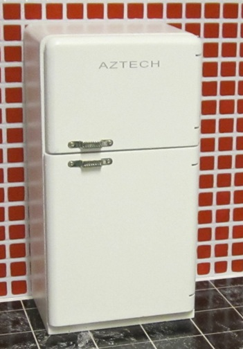 Retro white fridge freezer