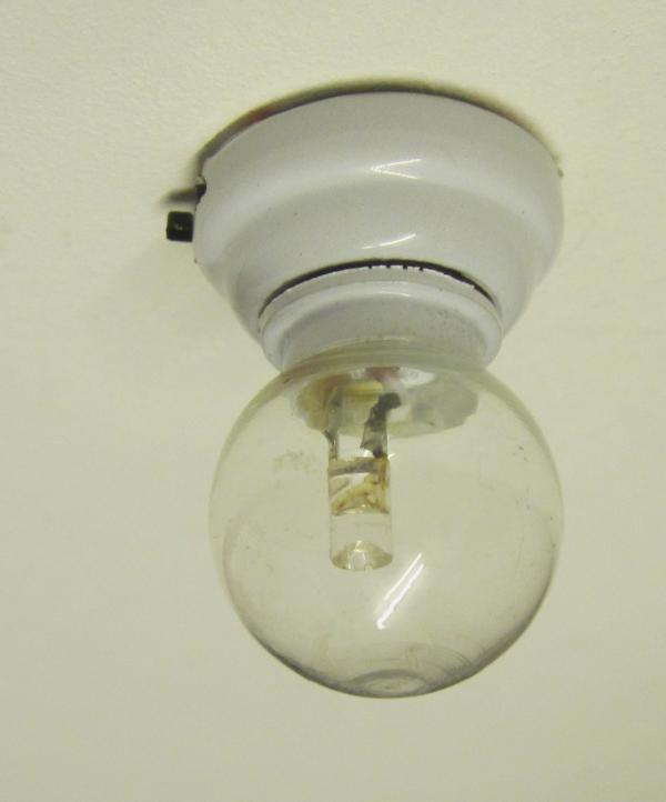 *SALE* LED globe light with white fitting