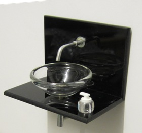 ELF black acrylic vanity unit