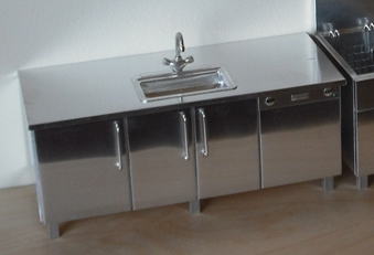 Commercial sink and dishwasher unit