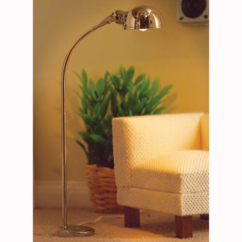 Directional half-domed floor lamp