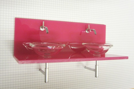 ELF acrylic double vanity unit - choice of colours