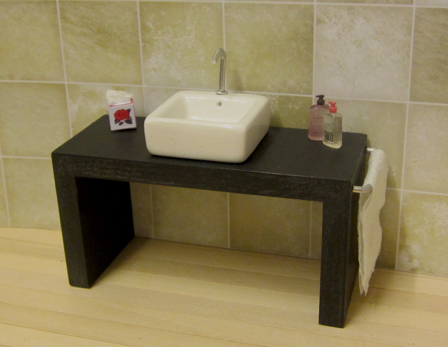 ELF black vanity unit