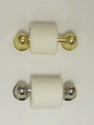Loo roll holder, chrome or gold