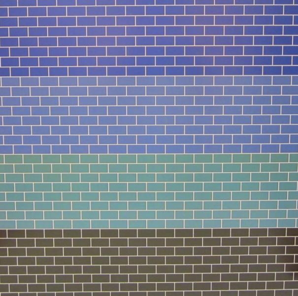 Embossed coloured metro tiling