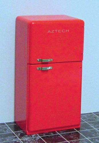 Red fridge freezer