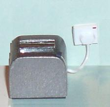 Modern toaster, silver