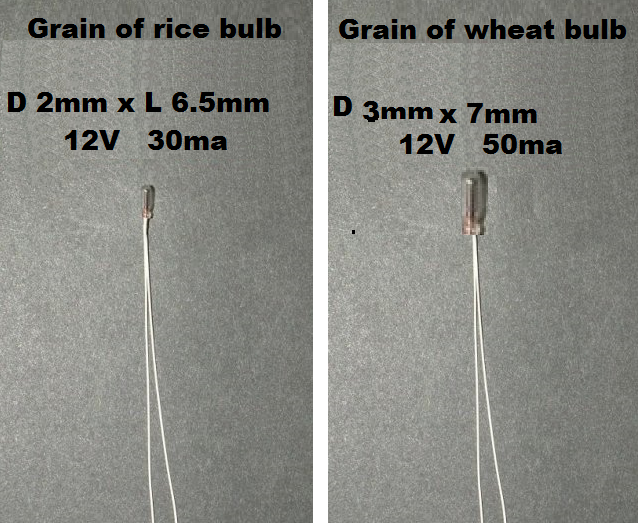 12v Bulb - grain of rice/wheat