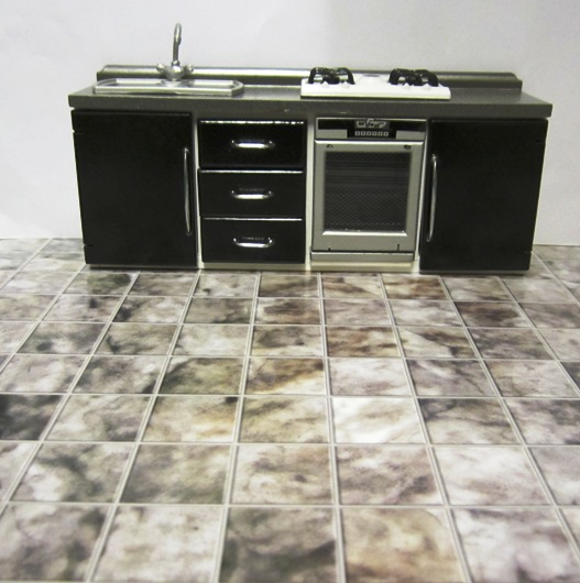 Smoky Grey marble effect tiling