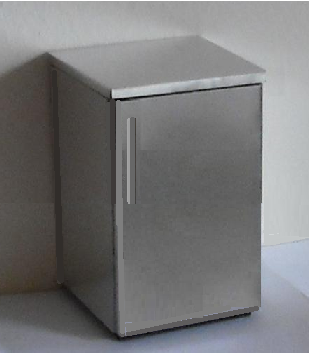 ELF undercounter steel fridge/freezer ready built